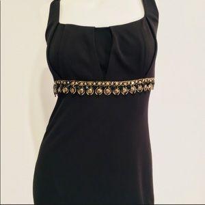 David Meister Sleeveless Little Black Dress;